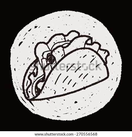 burrito doodle - stock photo