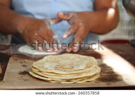 burritos tacos tortillas typical foods maya tulum mexico - stock photo