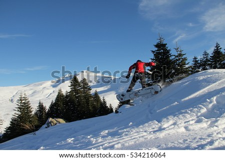 BURSA TURKEY ; DECEMBER 10, 2016 Uluda? ski resort and skiers , Turkey , Bursa .