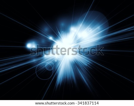 Burst of fractal rays for use as background element in designs