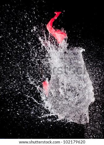 bursting balloon - stock photo