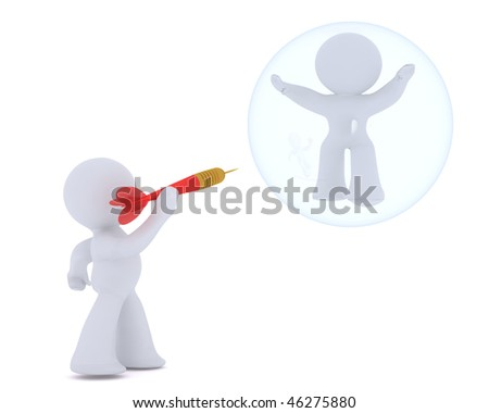 BURSTING THE BUBBLE - stock photo