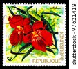 BURUNDI - CIRCA 1973: A stamp printed in Republic of Burundi shows tropical flowers (Miltonia), circa 1973 - stock photo