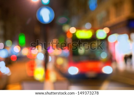 Bus in the street of London - stock photo