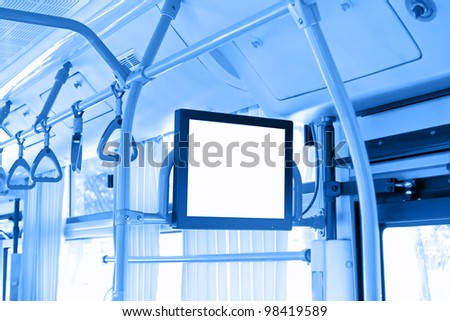 Bus information screen  - stock photo