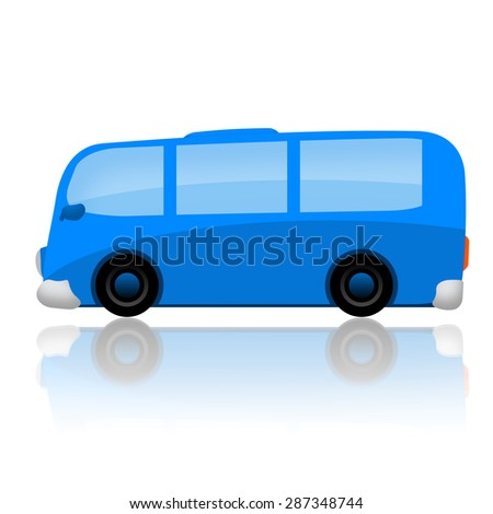 Bus isolated on white background - stock photo