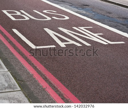 Bus lane road marking composition