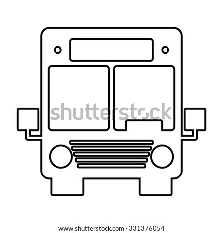 Bus line icon. illustration