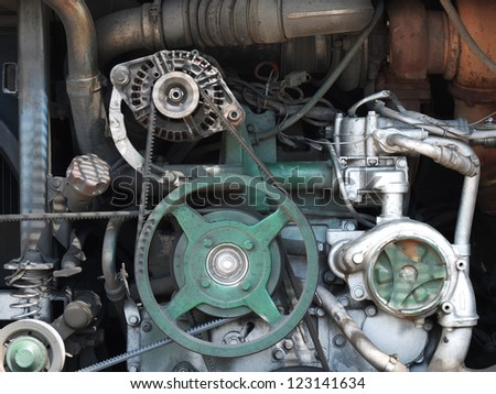 Bus's engine - stock photo