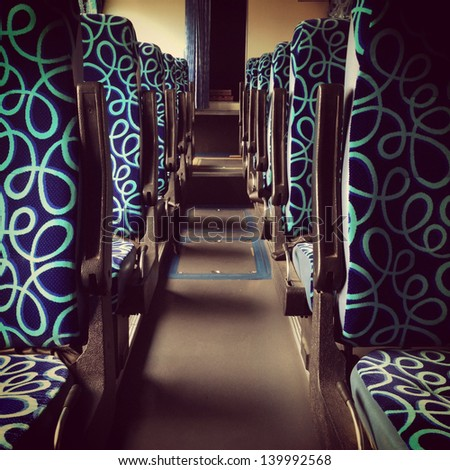 bus seat in row