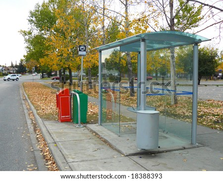 Bus Stop - stock photo