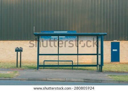 Bus Stop in England  - stock photo