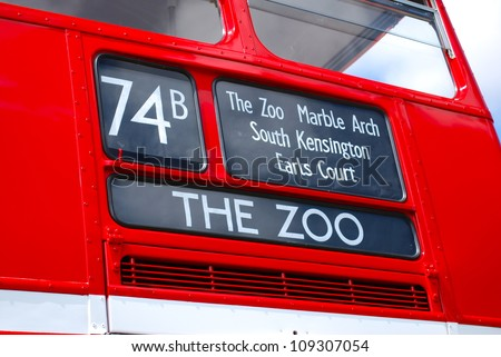 Bus to The Zoo - stock photo