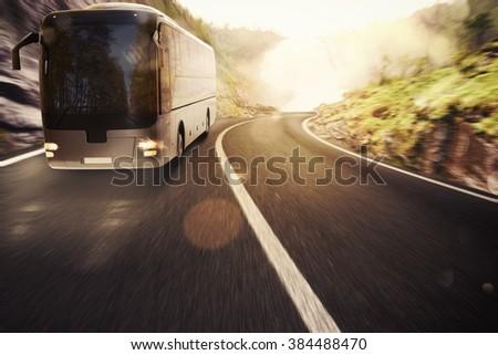 Bus transport - stock photo