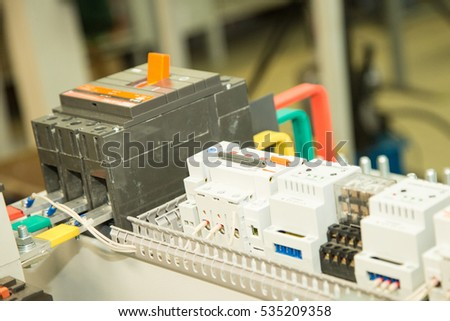 busbars and circuit breakers, electrical