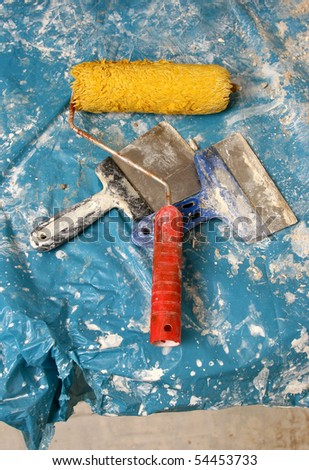 bush and roller - stock photo