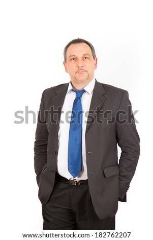 Businesman doing different poses