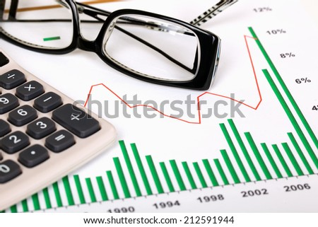 Business accounting  - stock photo