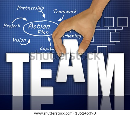 Business action plan concept - stock photo
