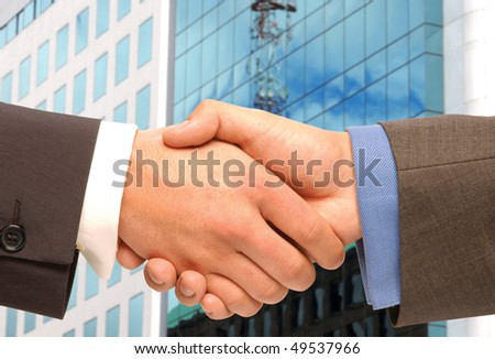 Business agreement. - stock photo