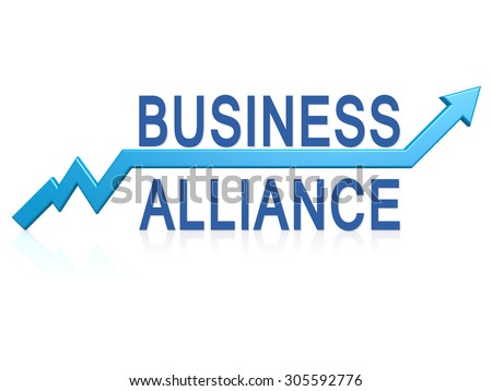 Business Alliance Blue Arrow Image Hires Stock Illustration ...