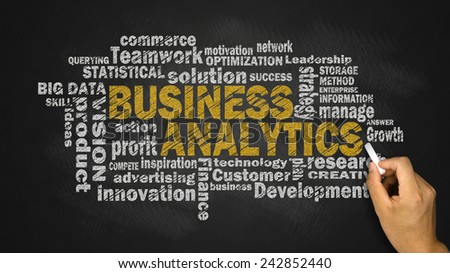 business analytics concept word cloud