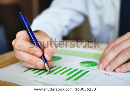business analyze sustainable development opportunities  - stock photo