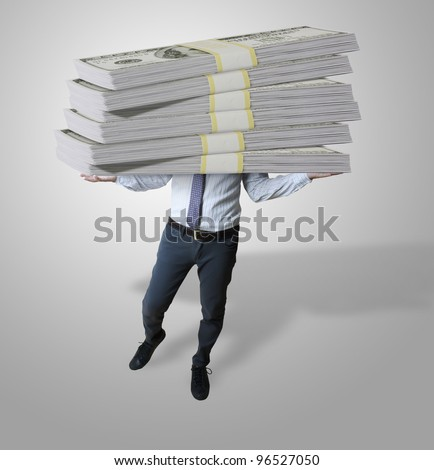 Business and dollars - stock photo
