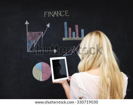 business and finaces concept - smiling business woman presenting financial