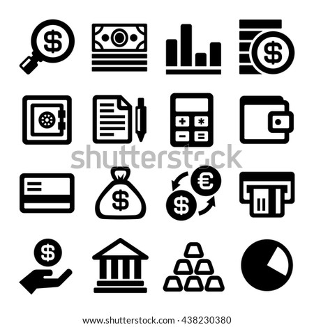 Business and Finance Icons Set. illustration - stock photo