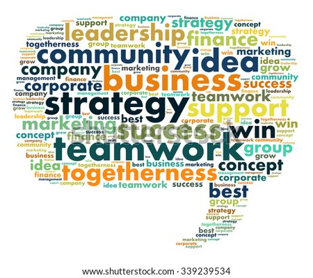 Business and strategy illustration word cloud concept