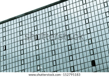 Business architectural glass windows.