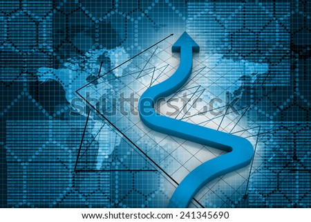 Business Arrow - stock photo