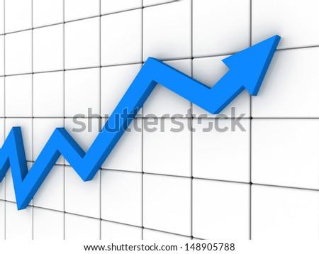 Business Arrow Graph - stock photo