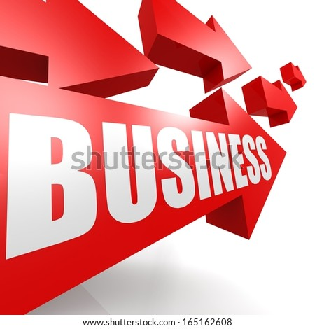 Business arrow red - stock photo