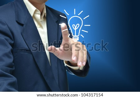 Business artwork of business person on nature background.