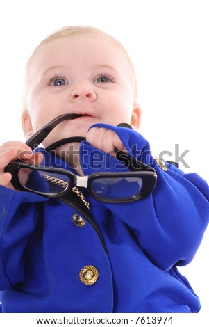 business baby suit - stock photo