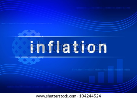 business background inflation - stock photo