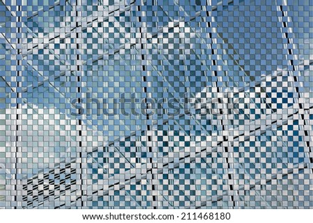 Business background of office and clouds concept. - stock photo
