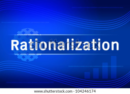 business background Rationalization - stock photo