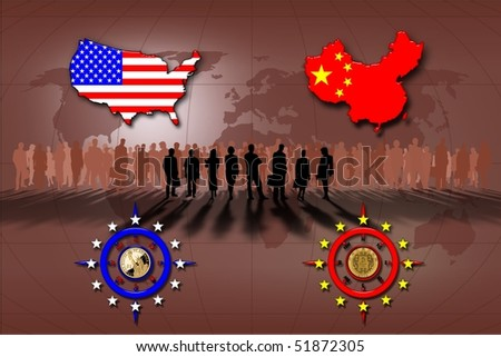 Business between China and the United States