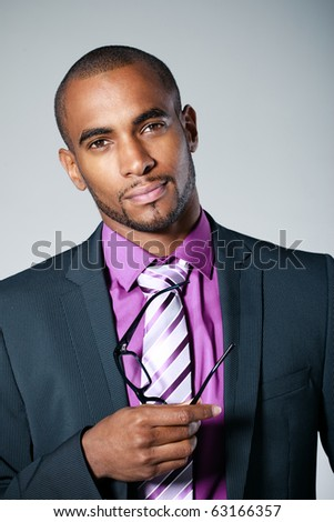 business black man - stock photo