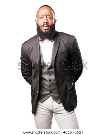 business black man standing
