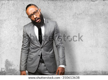 business black man tired