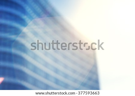 Business blurred background with modern city building