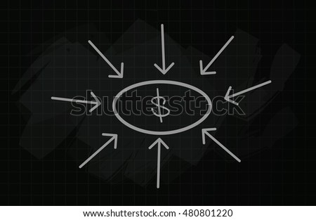 Business Board - Making Money - Stock Image