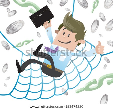 Business Buddy has a Financial Safety Net.  - stock photo