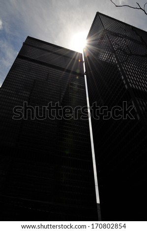 Business building in financial district. Downtown Toronto, Ontario, Canada - stock photo