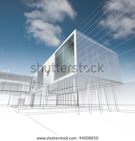 Business building. My design, not real building