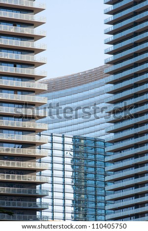 Business buildings, skyscrapers - stock photo